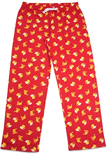 Late Night Snacks Pizza and Beer Unisex Pajama Pants With Pockets - Large by Late Night Snacks (Image #2)