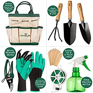 Lebensfrohh The spacious 600D Oxford fabric tote bag has large internal space with 7 outside pockets and 5 elastic straps, so you ca Garden Tool Set ¦, UNKNOWN