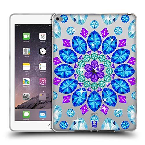 Head Case Designs Mandala Crystals Sparkling Gemstones Soft Gel Case for iPad Air 2 (2014)