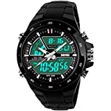 Relojes de Hombre Sport LED Digital Military Water Resistant Watch Reloj Men RE0034 (BLACK)