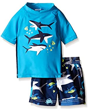Carter's Baby Boys' Whale Rash Guard Set