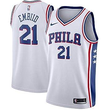 CHWNBA NBA Philadelphia 76ers Joel-Embiid 21 Swingman Men Jersey (Blanco, L): Amazon.es: Deportes y aire libre