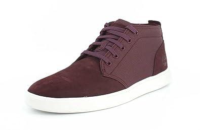 Timberland Mens Groveton Chukka Dark Red Sneaker - 7.5