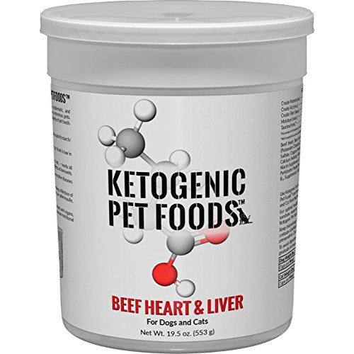 Ketogenic Pet Foods - BEEF HEART & LIVER - High Protein, High Fat, Low Carb, Natural Dog & Cat Food - 19.5 oz. canister