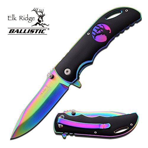 ER-A008RB-MC ERA008RB-Brk Linerlock A/O (Tang Titanium Dive Knife Drop)