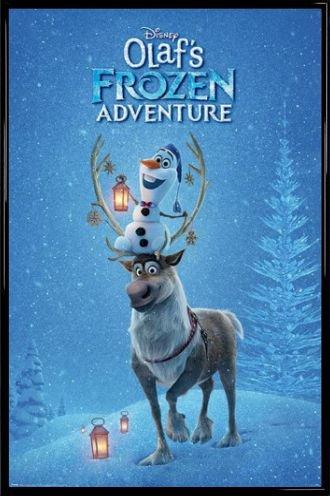 - Olafs Adventure MDF 1art1 La Reine des Neiges Poster et Cadre Affiche Principale 91 x 61cm