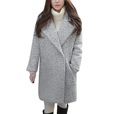 DEELIN Haute Qualité Femmes Hiver Élégant Coton Manteau De Laine De Mode Garder Au Chaud Revers Surdimensionné Veste Épais Coton Manteau Pardessus