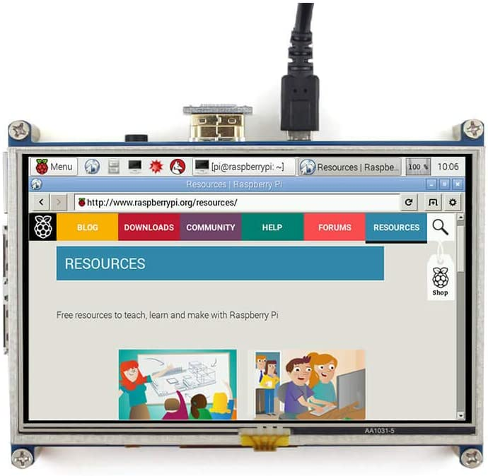 800/×480,Resistive Touch Screen LCD,HDMI interface,Designed for Raspberry Pi 5inch HDMI LCD