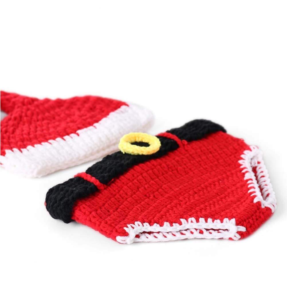 Toyvian Navidad recién Nacido Disfraz Punto de Ganchillo Papá Noel ...