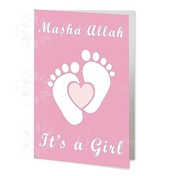 Amazon.com: Nuevo bebé niña CR14, tarjeta de recién nacido ...