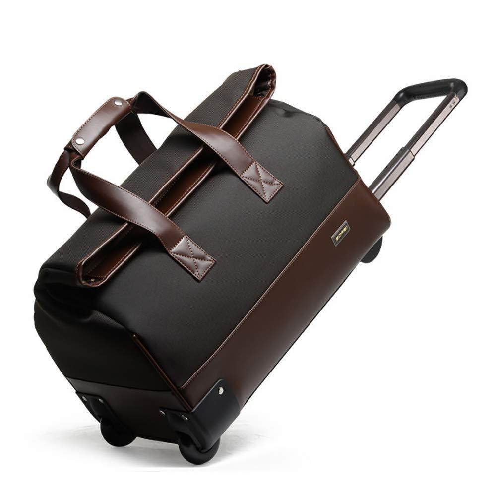 実用的なスーツケース 極度の軽量の動かされたバックパック、高容量のコンパクトのオックスフォードの布の圧延のバックパックのスーツケース防水手荷物603-38701 (色 : C) B07T2X88PH C