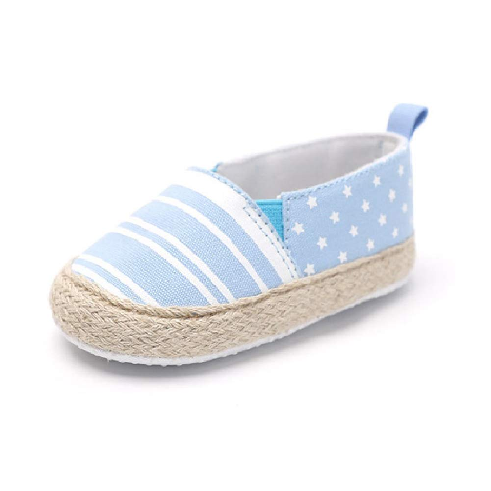 Cute Baby Toddler Shoes Infant Toddler Stripe Soft Sole Kid Girls Boy Baby Crib Shoes Prewalker 0-18 Months