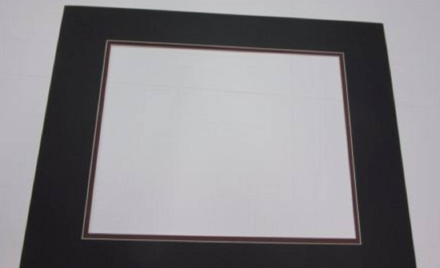 USA Premium Store Picture Framing Mats 16x20 for 11x14 photo set of 3 Black with Garnet liners by USA Premium Store