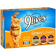 9Lives Gravy Favorites Wet Cat Food Variety Pack, 5.5Oz Cans (Pack Of 12), Pack
