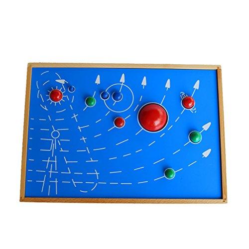 MagiDeal Jeux de Construction Jeu éducatif Enfant équipement De Montessori Exercice Pensée spatiale