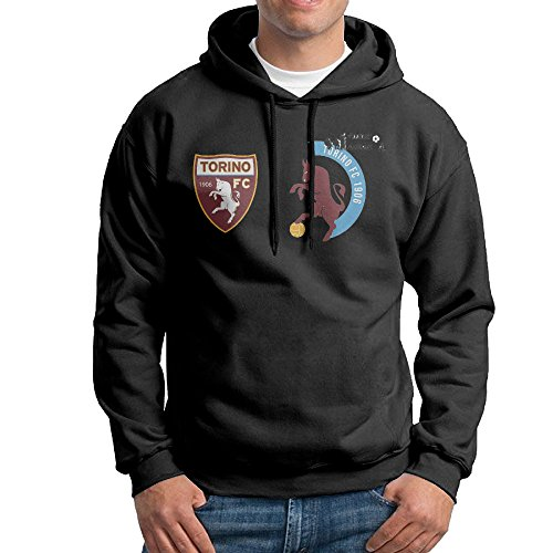 - Men Torino F.C. Logo Custom Cool 100% Cotton Hoodies Black Size M