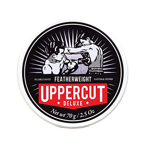 Uppercut Deluxe Featherweight Pomade 2.5oz | Medium Hold with Grip | Low Shine Finish