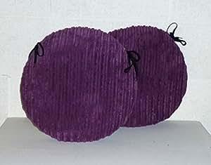 2x Zippy 20cm redondo Cojines de asiento–púrpura grueso cable–Asiento Almohadillas para hogar y muebles de jardín