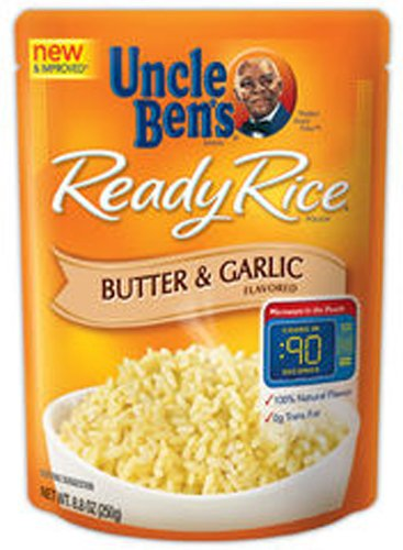 Uncle Ben's Ready Rice Butter & Garlic Flavored, 8.8-Ounce Packages (Pack of 6)