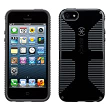 Speck Products SPK-A0483 Candy Shell Grip Case for iPhone 5 and 5S-Retail Packaging, Black/Slate Grey