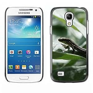 Caucho caso de Shell duro de la cubierta de accesorios de protección BY RAYDREAMMM - Samsung Galaxy S4 Mini i9190 MINI VERSION! - Lizard Rainforest Summer Green Nature