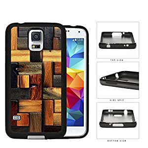Aged Laminate Hardwood Floor Rubber Silicone TPU Cell Phone Case Samsung Galaxy S5 SM-G900
