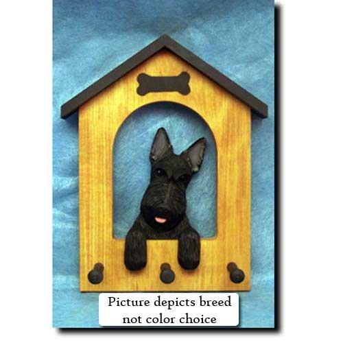 Michael Park Scottish Terrier (Black) Doghouse Leash Holder