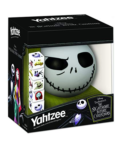 Disney Yahtzee The Nightmare Before Christmas Dice Game   Collectible Jack Skellington Toy   Family Dice Game & Travel Games (Christmas Toys Evil Nightmare Before)