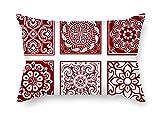 TonyLegner Color Block Pillow Shams 20 X 26 inches / 50 65 cm...