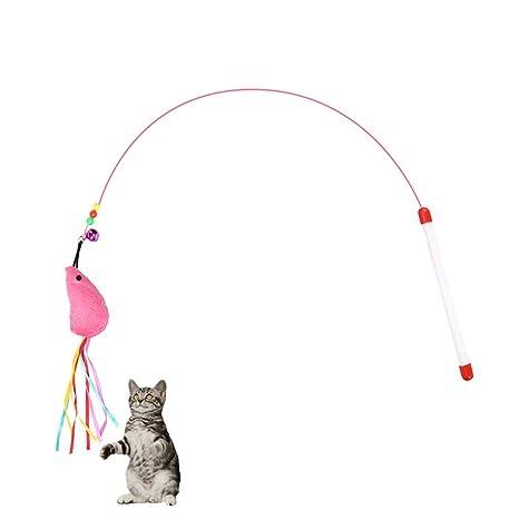 LZRZBH Paquetes Juguete para gatos Pluma Varita Varita Gato Para el ...