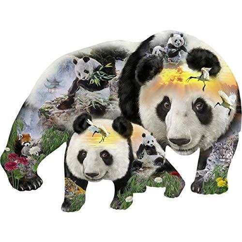 (Panda-Monuim 1000 pc Shaped Jigsaw Puzzle by SunsOut)