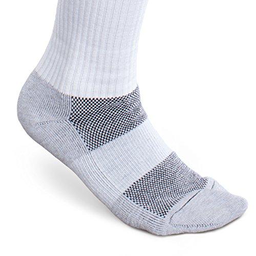 CoreSport Athletic Performance Compression Socks - 15-20mmHg Mild Graduated Compression (White, Medium) by Therafirm (Image #2)