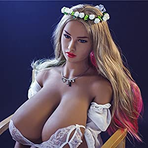 Lifelike TPE Sex Doll - Adele, Livebox Realistic Life Size Love Doll with F-Cup Papaya Huge Breast Anal Vagina Oral Sex Toy for Men, 156cm (5ft1)
