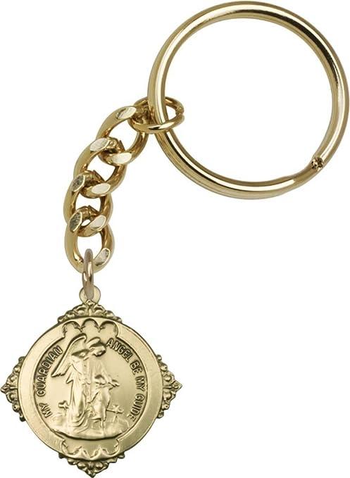 Oro antiguo ángel de la guarda llavero con caja de regalo de ...