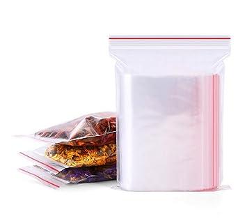 Amazon.com: 100 bolsas de plástico transparente bolsas de ...