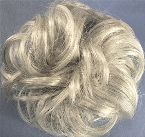 LACEY 3 inch Pony Fastener Hair Scrunchie - 59 Gray with 5% Black