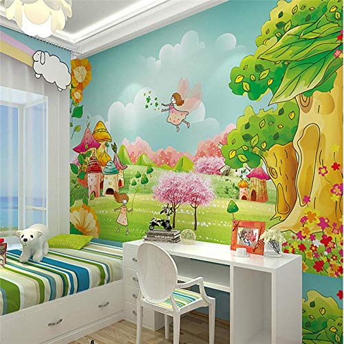 Amazhen Papel de Parede para Quarto Custom Wallpaper Cartoon Children 's House Wall Papel de Parede Infantil,500cmx738cm,500cmx280cm