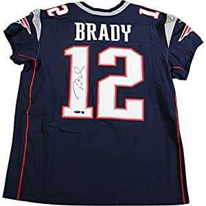 Tom Brady Hand Signed Autograph Auto Blue Authentic Jersey Patriots Steiner COA