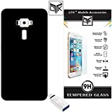 TheGiftKart™ Combo for Asus ZenFone 3 (ZE520KL) 5.2 Inches (Combo of 1 Back Cover + 1 Tempered Glass + 1 OTG Adapter) - TheGiftKart™ Ultra Premium Matte Hard Back Cover (Jet Black) + Premium HD Tempered Glass Screen Protector With Rounded Edges + USB Type-C To USB 3.0 / 2.0 OTG Adapter