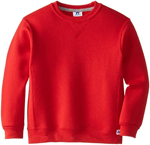 Russell Athletic Big Boys' Fleece Crew, True Red, Large