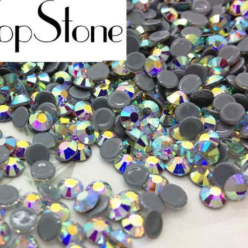 (Calvas Top Quality AAA MC HotFix Rhinestones ss6 8 10 12 16 20 30 Crystal Flatback Strass Glass Stone for Clothing Accessories - (Color: Crystal ab, Item Diameter: 6SS 1440pcs))