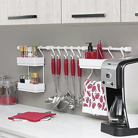Metaltru MAV102, Kit com 3 Peças Organizadores para Parede da Cozinha 2018, Branco