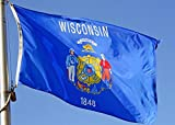 Allied Flag Outdoor Nylon State Flag, Wisconsin, 2-Foot by 3-Foot