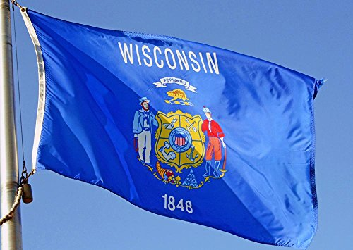 Allied Flag Outdoor Nylon State Flag, Wisconsin, 3-Foot by 5-Foot