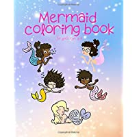 Mermaid Coloring Book For Girls Ages 4-8: Happy Mermaids On Pink & Purple Sparkling Water Background Designs!