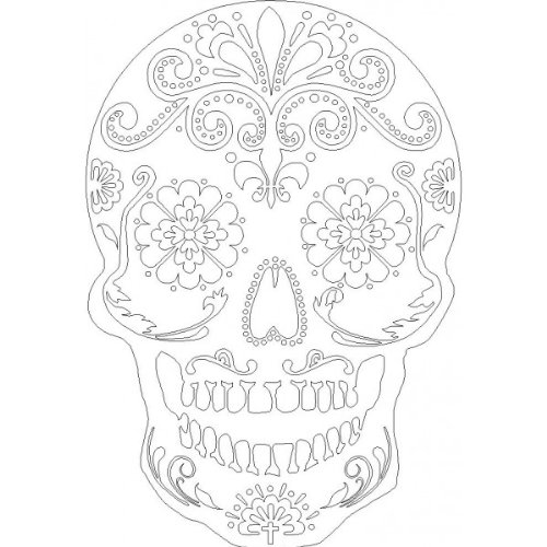 [Day Of The Dead stencil] (Day Of The Dead Supplies)