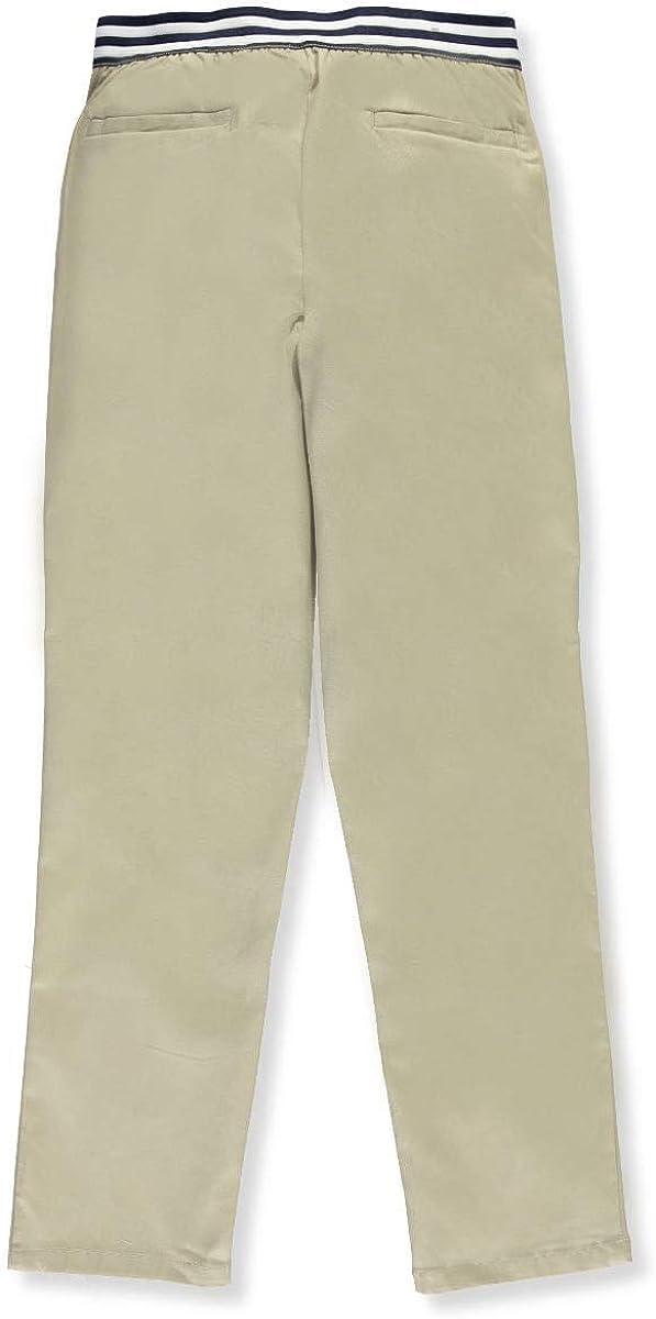 French Toast Big Girls\' Pull-On Contrast Waist Pants - Khaki, 10 51WDPYHiAyL