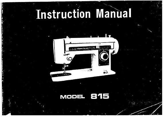 Descargar Pdf-File Singer W815 Máquina de coser: Amazon.es: Hogar