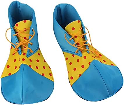 Blue and Green Cloth Clown Shoes Pretend Games Shoes for Adults Party Clown Costume Supplies