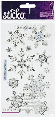 (Sticko Vellum Stickers - Snowflakes)